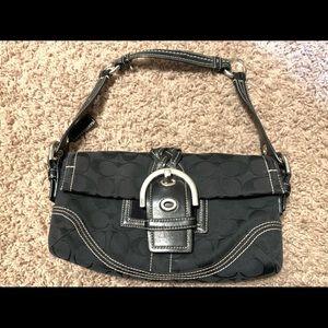 Authentic Black Coach signature handbag